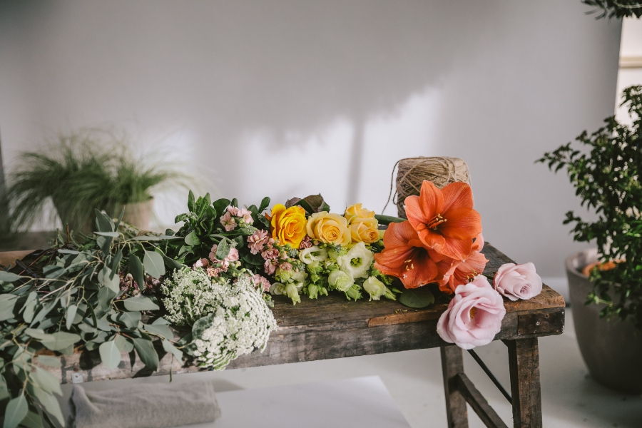 bloemen op tafel flower family