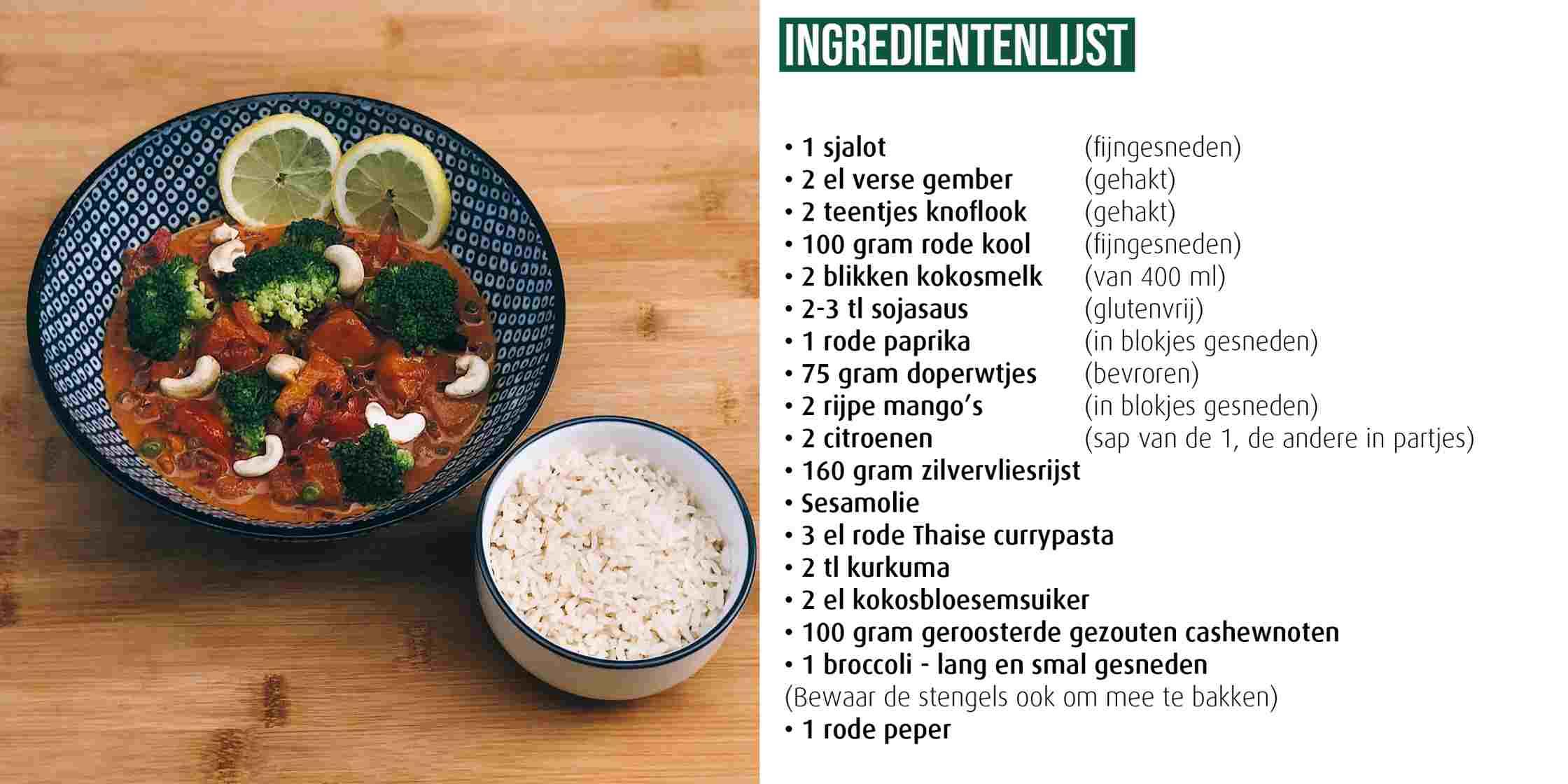 Thaise Curry foto ingredienten