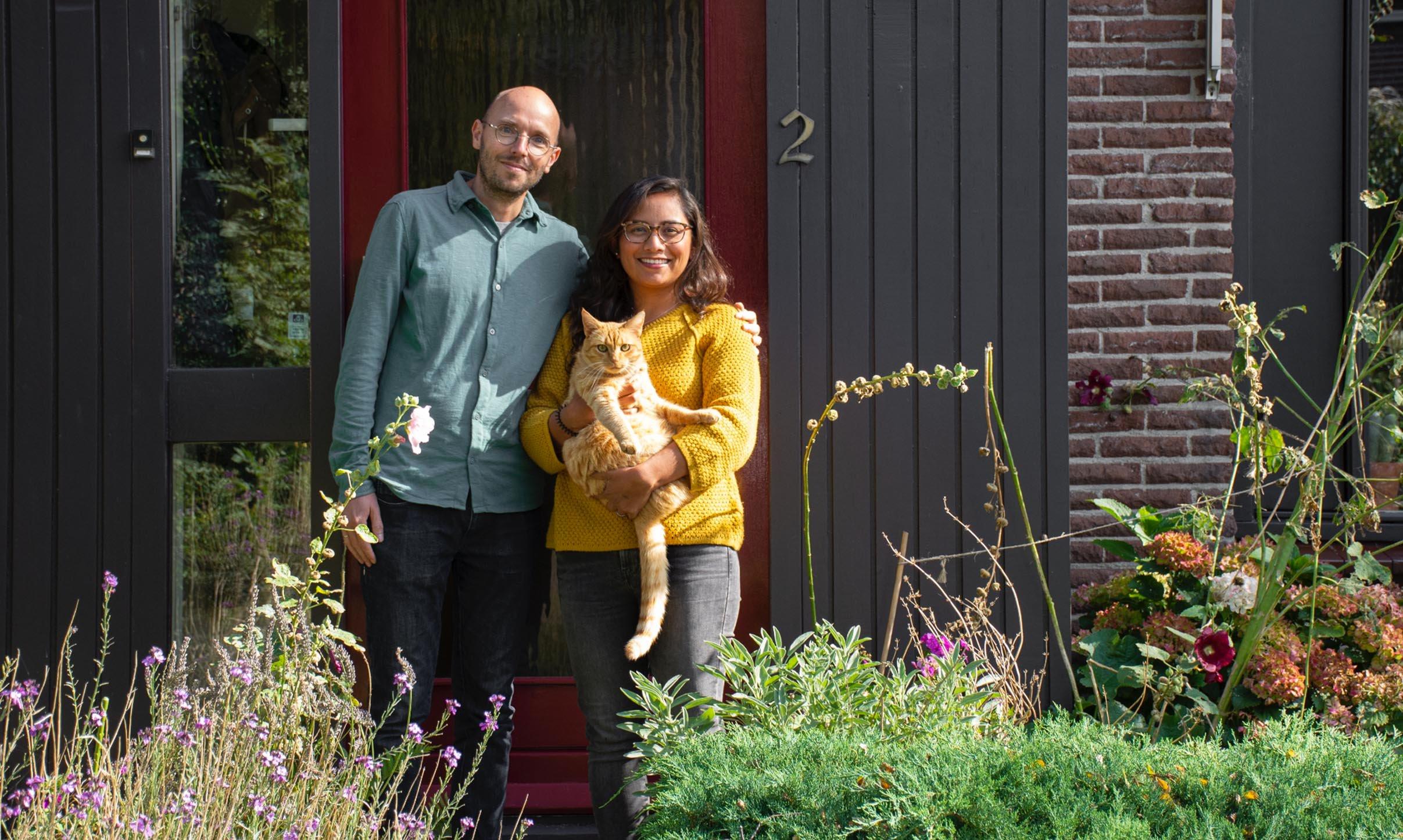 Wilfried en Laura voor huis